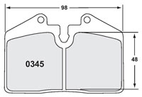 Click for a larger picture of PFC Racing Brake Pad, Porsche 911, 78-96