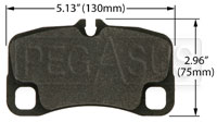 Click for a larger picture of PFC Racing Brake Pad, Porsche GT-3 Cup, Rear