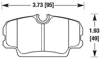 Click for a larger picture of PFC Racing Brake Pad, BMW E30, Front