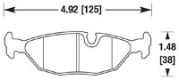Click for a larger picture of PFC Racing Brake Pad, BMW E30, Rear
