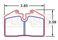 Click for a larger picture of PFC Racing Brake Pad, Ferrari/Porsche (D345)