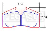 Click for a larger picture of PFC Racing Brake Pad, Porsche 911 Carrera (D447)