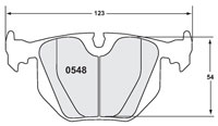 Click for a larger picture of PFC Racing Brake Pad, BMW E46 M3