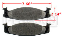 Click for a larger picture of PFC Brake Pad, Z-Rated,  Ford E/F 100/150