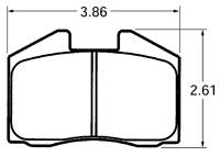 Click for a larger picture of PFC Street Brake Pad, 78-79 Porsche 911 Turbo (D250)