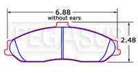 Click for a larger picture of PFC Racing Brake Pad, Corvette C5 & Z06 (D731)