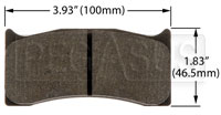 Click for a larger picture of PFC Racing Brake Pad, Brembo/Wilwood, Swift 014a