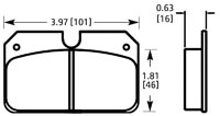 Click for a larger picture of PFC Racing Brake Pad, Outlaw 2800, Dynalite Bridge Bolt