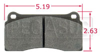 Click for a larger picture of PFC Racing Brake Pad, Brembo F40, Ferrari, Jaguar (D810)