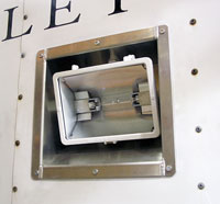 Click for a larger picture of Recessed Trailer Light Bucket with Light
