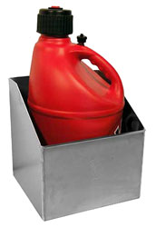 Click for a larger picture of Pit Pal Trailer Fuel Jug Rack - for One
