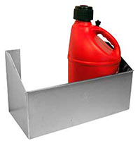 Click for a larger picture of Pit Pal Trailer Fuel Jug Rack - for Two Jugs