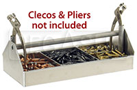 Click for a larger picture of Pit Pal 3-Compartment Cleco Tray Only