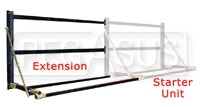 "Click for a larger picture of Pit Pal 64"" Adjustable Tire Rack Extension"