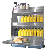 Click for a larger picture of Pit Pal Deluxe Trailer Door Cabinet