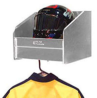 Click for a larger picture of Pit Pal Safety Shelf - Stores Helmet & Hanger