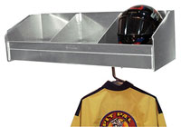 Click for a larger picture of Pit Pal 3 Bay Helmet Safety Shelf
