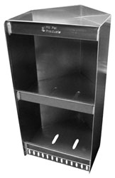 Click for a larger picture of Pit Pal Vertical Corner 2 Helmet Shelf