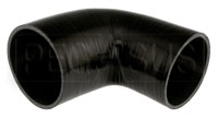 """Click for a larger picture of Black Silicone Hose, 4.00"""" x 3 1/2"""" 90 deg. Reducing Elbow"""
