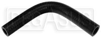 "Click for a larger picture of Black Silicone Hose, 3/4"" x 5/8"" 90 deg. Reducing Elbow"