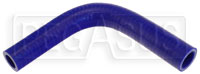 "Click for a larger picture of Blue Silicone Hose, 3/4 x 5/8"" 90 deg. Reducing Elbow"
