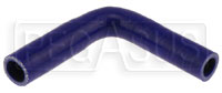 "Click for a larger picture of Blue Silicone Hose, 3/4 x 5/8""  Reducing Elbow"