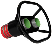 """Click for a larger picture of Redhead Dual 2.0"""" Male Fueling Valves, 100mm Centers"""