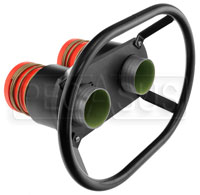 "Click for a larger picture of Redhead Dual 2.0"" Male Fueling Valves, 4.5 inch Centers"