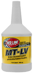 Click for a larger picture of Red Line MT-LV Manual Transmission Lubricant (70W75 GL-4)