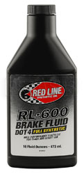 Click for a larger picture of Red Line RL-600 DOT 4 Full Synthetic Brake Fluid