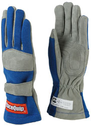 Click for a larger picture of RaceQuip 351 Model Single Layer Racing Gloves, SFI-1