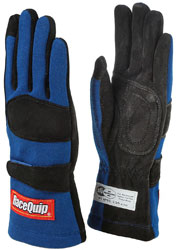 Click for a larger picture of RaceQuip 355 Model 2 Layer Racing Gloves, SFI-5