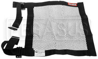 "Click for a larger picture of Mesh Net with Adjustable Mount Straps, SFI 27.1, 18"" x 18"""