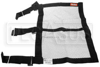 Click for a larger picture of RaceQuip 18x24 Mesh Window Net with Strap Mounts, SFI