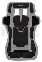 Click for a larger picture of Sabelt Pad Kit for GT-Pad Seat, Large Black