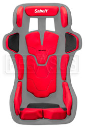 Click for a larger picture of Sabelt Pad Kit for GT-Pad Seat, X-Large Red