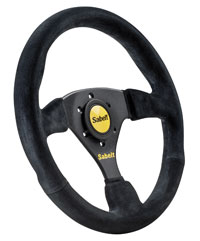 Click for a larger picture of Sabelt 2010X Steering Wheel, No Dish, Black Suede, 330mm