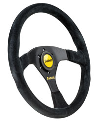 Click for a larger picture of Sabelt 2007X Steering Wheel, No Dish, Black Suede, 350mm