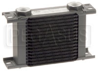 Click for a larger picture of Setrab Series 1 Oil Cooler, 16 Row, M22 Ports