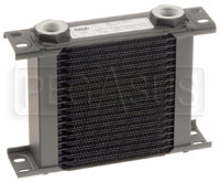 Click for a larger picture of Setrab Series 1 Oil Cooler, 19 Row, M22 Ports