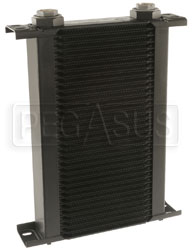 Click for a larger picture of Setrab Series 1 Oil Cooler, 34 Row, M22 Ports