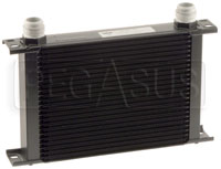 Click for a larger picture of Setrab Series 6 Oil Cooler, 25 Row, AN16 Ports