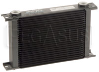 Click for a larger picture of Setrab Series 6 Oil Cooler, 25 Row, M22 Ports