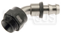 Click for a larger picture of Setrab M22 to 8AN Pushlock Hose Barb, 45 Degree