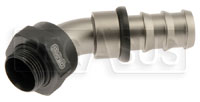 Click for a larger picture of Setrab M22 to 12AN Pushlock Hose Barb, 45 Degree