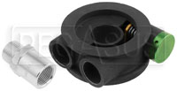 Click for a larger picture of Setrab M20 x 1.5 Oil Filter Sandwich Plate w/ Thermostat
