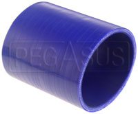 Click for a larger picture of Blue Silicone Hose Coupler, 3 1/2 inch ID, 4 inch Length