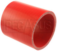 Click for a larger picture of Red Silicone Hose Coupler, 3 1/2 inch ID, 4 inch Length