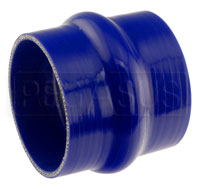 Click for a larger picture of Blue Silicone Hump Hose, 4 inch ID