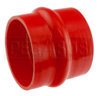 Click for a larger picture of Red Silicone Hump Hose, 4 inch ID